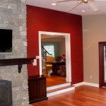 accent wall red