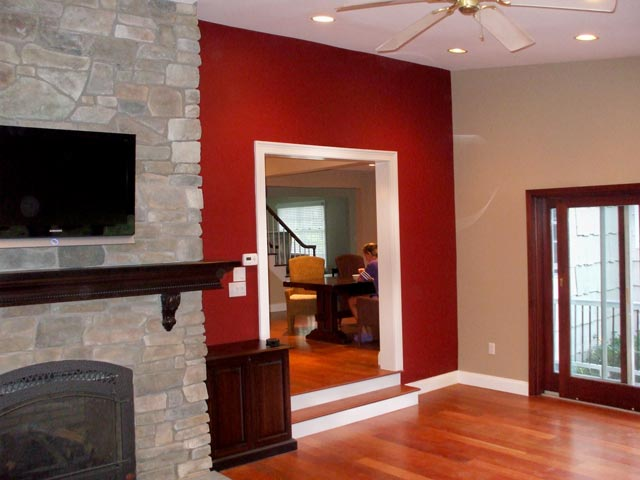 Accent Colors Unique With Red Accent Wall Photo