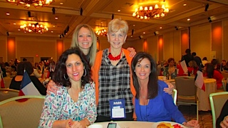 Luisa and I with Kara Woods and NY-Chapter President Barbara Brock