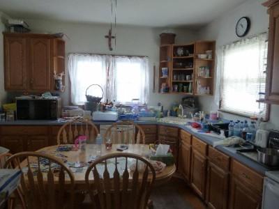 Cluttered kitchen